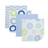 Luvable Friends - Washcloth 4pk (Blue) *99400*