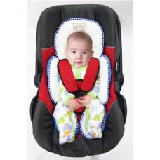 * CuddleMe - Head & Body Support Seat Pad *AZTEC GREY*