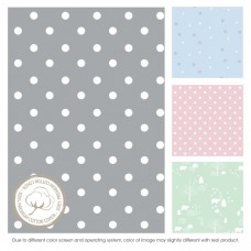Comfy Living -  Fitted Sheet (S) 60X120cm  *Grey Dot*