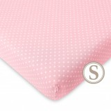 Comfy Living -  Fitted Sheet (S) 60X120cm  *Pink Dot*
