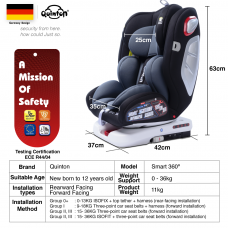 Quinton - Smart 360° Isofix Safety Car Seat *Ruby Red*
