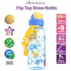 Autumnz - Flip Top Straw Bottle 650ml /22oz *BEST BUY*