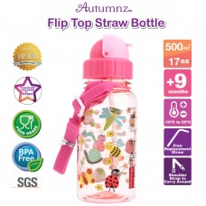 Autumnz - Flip Top Straw Bottle 500ml /17oz *BEST BUY*