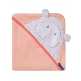 Clevamama - Bamboo Apron Baby Bath Towel *Coral*