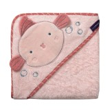 Clevamama - Bamboo Apron Baby Bath Towel *Pink*