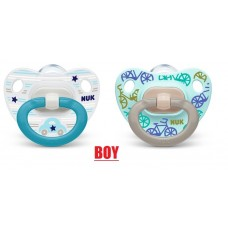 NUK - Orthodontic Happy Days Silicone Soother  (0-6M) *2pcs*