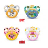 NUK - Orthodontic Happy Kids Latex Soother  (0-6M) *2pcs*