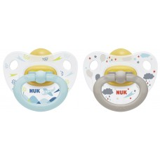 NUK - Orthodontic Happy Kids Latex Soother  (18-36M) *2pcs*