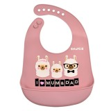 Snapkis - Oh-So-Soft Silicone Bib *Llama Family*