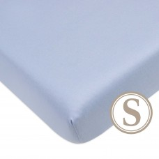 Comfy Living -  Fitted Sheet (S) 60X120cm  *Plain Blue*