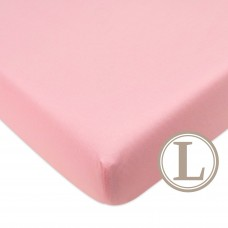 Comfy Living -  Fitted Sheet (L) 70X130cm  *Plain Pink*