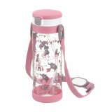 Richell - AQULEA Clear Straw Bottle Mug 450ml *Pink*