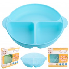Autumnz - Baby Divided Plate With Lid
