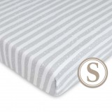 Comfy Living -  Fitted Sheet (S) 60X120cm  * Urban Grey*