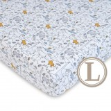 Comfy Living -  Fitted Sheet (L) 70X130cm  *Jungle Blue*