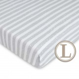 Comfy Living -  Fitted Sheet (L) 70X130cm  *Urban Grey*