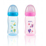 Pigeon -  Soft Touch Wide Neck Premium Clear PP Bottle *240ml*