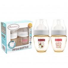 Autumnz - PPSU Wide Neck Feeding Bottle 4oz/120ml (Twin Pack) *Red Ladybird / Love Ashley*