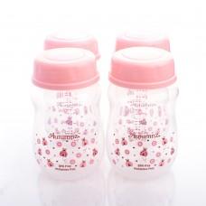 Autumnz - Wide Neck Breastmilk Storage Bottles *7oz* (4 btls) Ladybird *Pink*