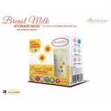 Autumnz - Double ZipLock Breastmilk Storage Bag (28 bags) with THERMAL SENSOR *3.5oz* (SUNFLOWER)