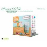Autumnz - Double ZipLock Breastmilk Storage Bag (28 bags) with THERMAL SENSOR *5oz* (BUNNY)