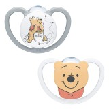 Nuk - Disney Winnie the Pooh Space Silicone Soother S1 (0-6 months) *2Pcs*