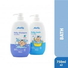 Anakku - Baby Bath 750ml Bottle + Baby Shampoo 750ml Bottle* BEST BUY