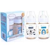 Autumnz - PPSU Wide Neck Feeding Bottle 6oz/180ml (Twin Pack) *Happy Bear /Space*