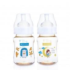 Autumnz - PPSU Wide Neck Feeding Bottle 6oz/180ml (Twin Pack) *Happy Bear /My Little Star*