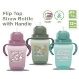 Autumnz - Flip Top Straw Bottle with Handle 350ml /12oz