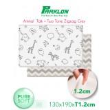 Coby Haus - Parklon Pure Soft Mat L190 x W130 x T1.2cm *Animal Talk / 2Tone Zig Zag Grey**