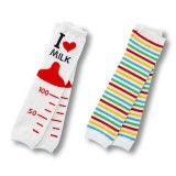 Leg Warmers - I Love Milk & Stripy Stripe