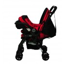 Halford- Cosmo DX Stroller Travel System *Red*