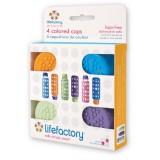LifeFactory - 4 Colored Cap *BPA FREE* BEST BUY