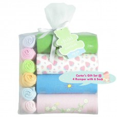 Adorable Rompers & Socks Gift Set - Assorted Design *GIRL*