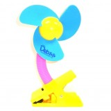 Adorable Deluxe Mini Laser Clip-on Fan (BEST BUY) - Blue