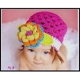 Adorable Crochet Hat *Elegent Floral*