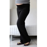 Autumnz - SWISH Maternity Wide-Leg Long Pants *Black*