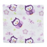 Adorable Receiving Blanket- Owls Family *Purple*