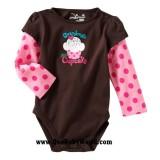 Jumping Beans - LS Romper *Grandma's Little Cupcake*