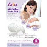Adora - Washable Breastpads (White) *4 pcs*