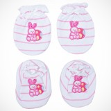 Adorable Mitten Booties Set - Rabbit (Pink)