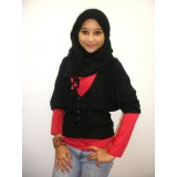 Favourite V Neck Cardigan - 3/4 Sleeve *Black*