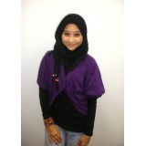 Cropped Cardigan - 3/4 Sleeve *Aubergine*