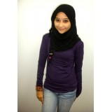 Inner with turtle neck- Aubergine