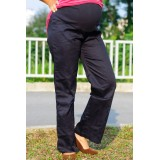 Autumnz - SLEEK Maternity Wide-Leg Long Pants *Navy Blue*