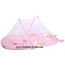Adorable - Travel Mattress Set with Mosquito Cover *Pink*