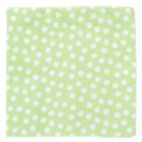 Adorable Receiving Blanket- Dotty Dot (Green)