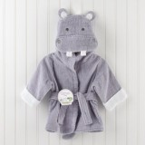 Adorable - Soft Hooded Bath Robe *Hippo Grey*