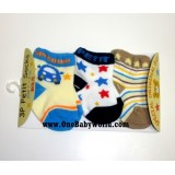 Adorable - 3pcs Petit Socks *Vroom Vroom*